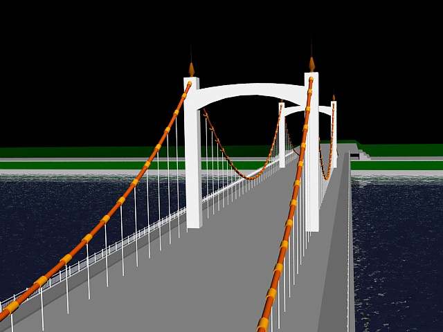 River Bridge 3d model 3ds Max files free download - modeling