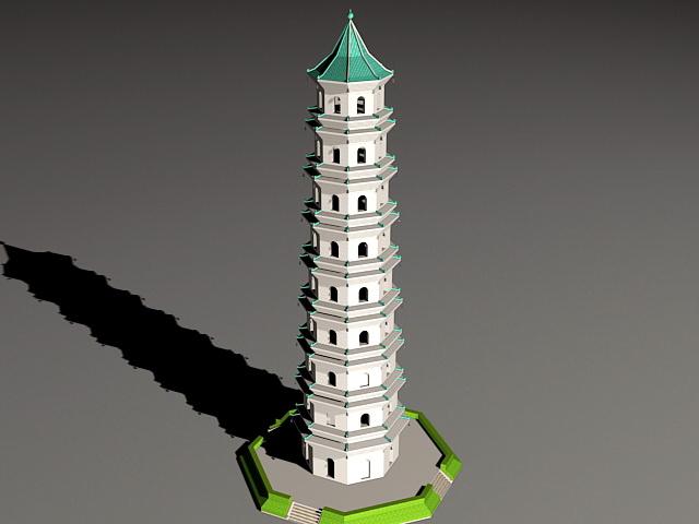 Tall Pagoda 3d model