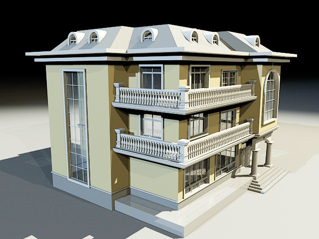 Villa Style Home 3d model