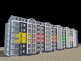 Condominium House 3d model