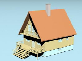 Country Cabin 3d model