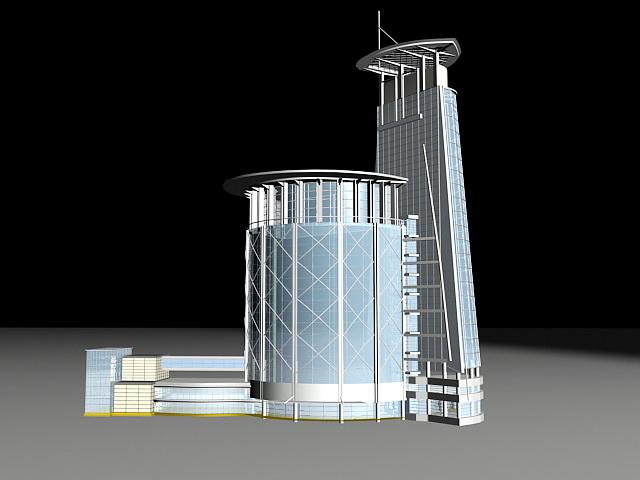Business Center Building 3d model