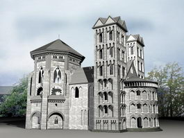 Old Manor House 3d model