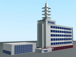 Communications Building 3d model
