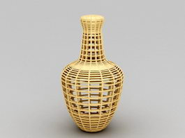 Wood Sculpture Vase 3d model