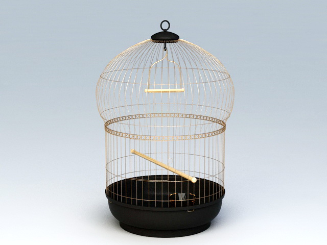 Victorian Bird Cage 3d model rendered image