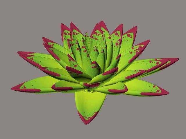 Echeveria Agavoides Ebony 3d model rendered image