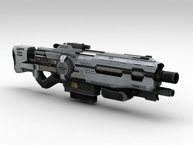 Sci-Fi Assault Rifle 3d model rendered image