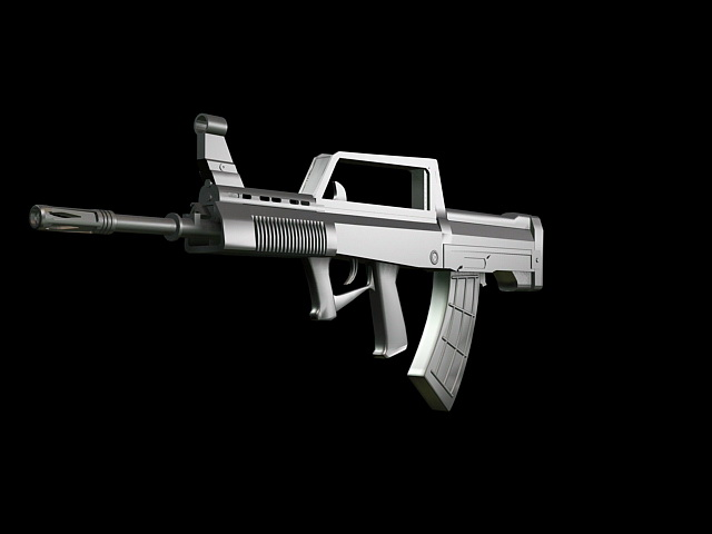 QBZ-95 Chinese Rifle 3d model rendered image