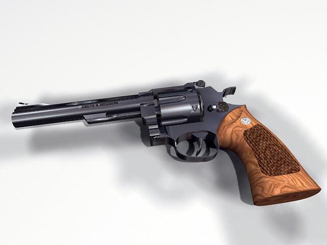44 Magnum Revolver 3d model rendered image