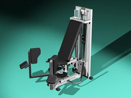 Leg Press Exercise Equipment 3d model