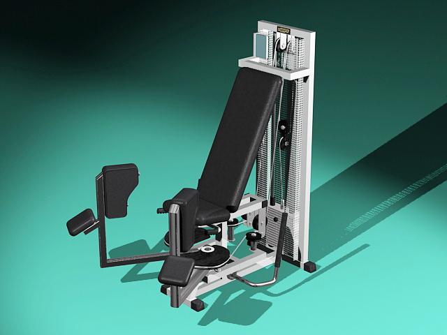 Leg Press Exercise Equipment 3d model rendered image