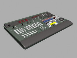 Old Synthesizer 3d model