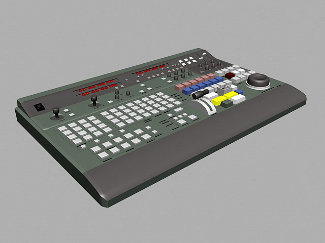 Old Synthesizer 3d model rendered image