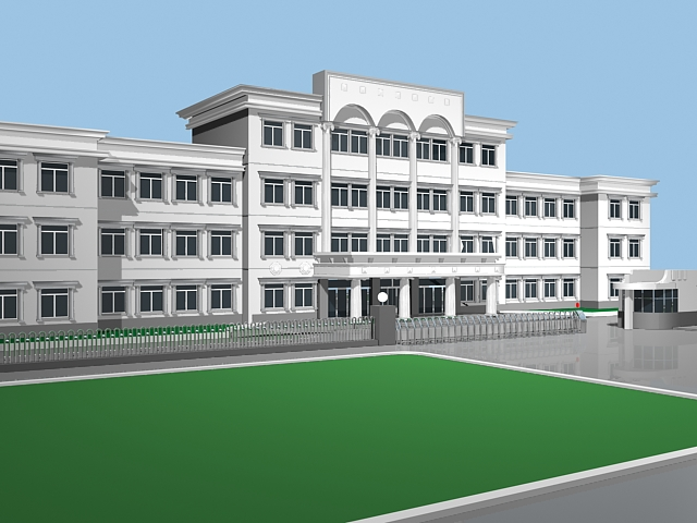 Local Government Building 3d model