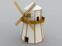 Windmill Cartoon 3d model