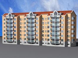 Modern Condominium Apartment Building 3d model