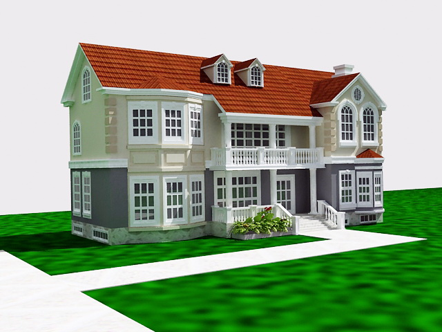 French Country Home 3d model