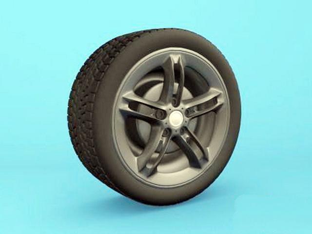 Car Wheel 3d model rendered image