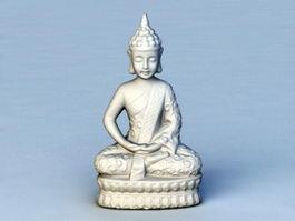 Vietnam Buddha Statue 3d model