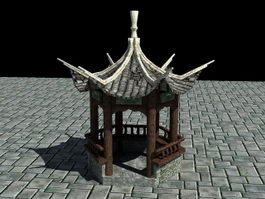 Antique Pavilion 3d model