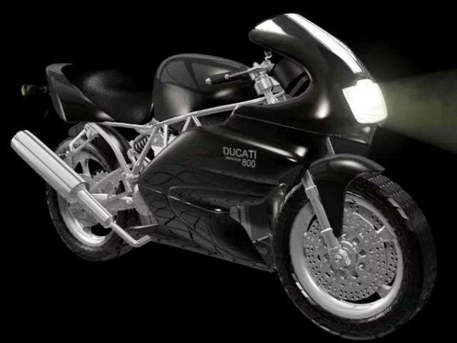 Ducati 800SS 3d model rendered image