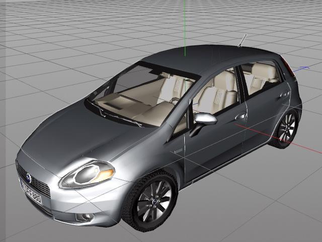 Fiat Grande Punto 3d model rendered image