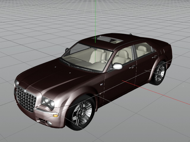 Chrysler 300 Sedan 3d model rendered image