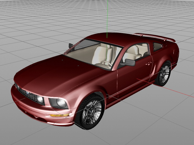Ford Mustang GT 3d model Cinema 4D files free download