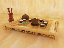 Traditional Chinese Tea Set 3d model