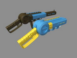 Sci-Fi Pistols 3d model