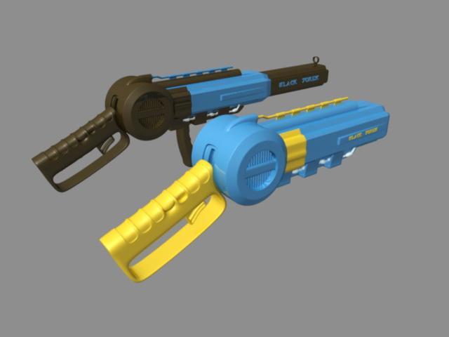 Sci-Fi Pistols 3d model rendered image