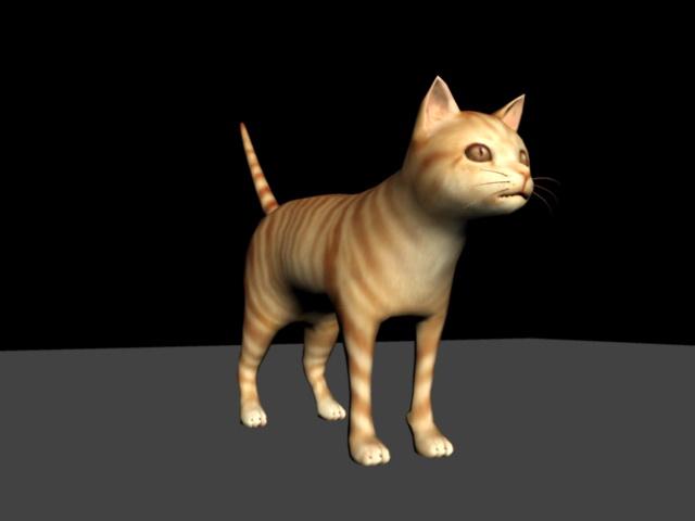Orange Tabby Cat 3d model rendered image