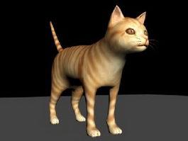 Orange Tabby Cat 3d model