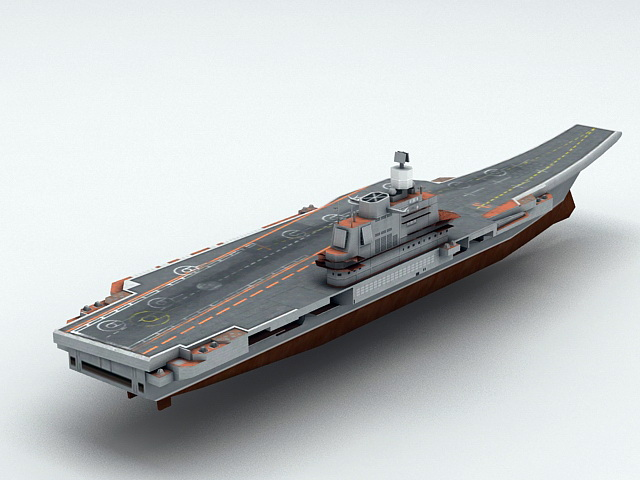 Admiral Kuznetsov Aircraft Carrier 3d model rendered image