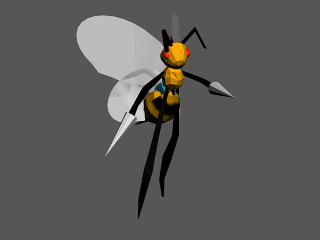 Beedrill Walk Rig 3d model rendered image