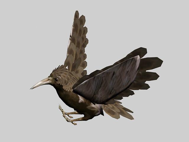 Bird Rig Animation 3d model rendered image