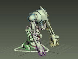 Robot Dog Rig 3d preview