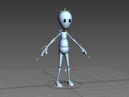 Human Cartoon Figure Rig 3d model