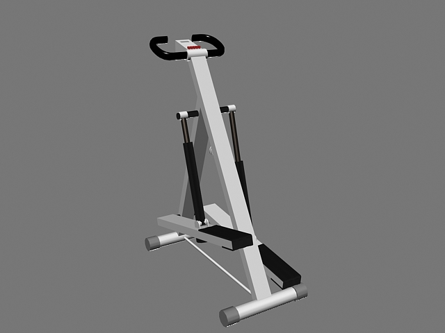 Animated Stepper Machine 3d model rendered image