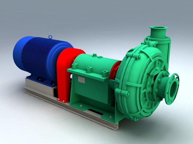 Turbine Generator 3d model rendered image