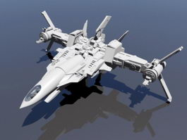 Space Sci-Fi Fighter 3d model