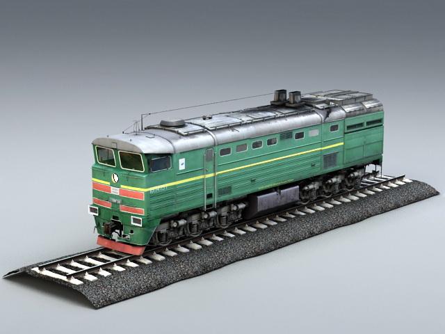 Diesel Locomotive Engine 3d model rendered image