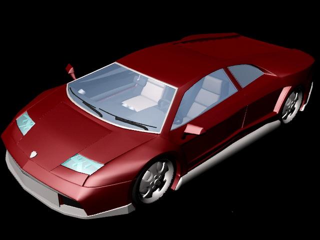 Lamborghini Aventador 3d model rendered image