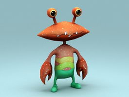 Crab Cartoon Character 3d model