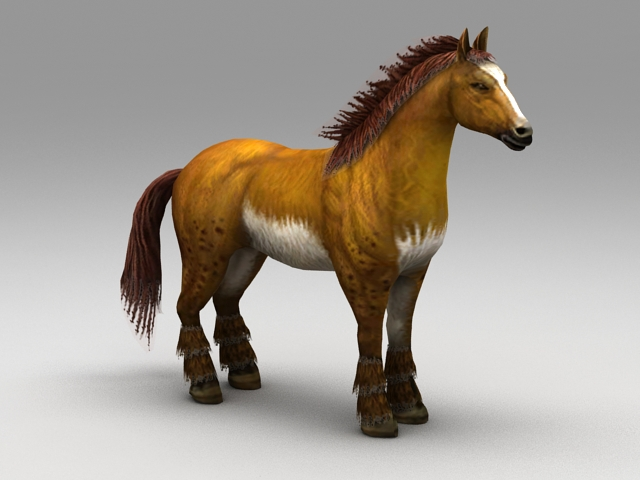 Mexican Horse 3d model rendered image