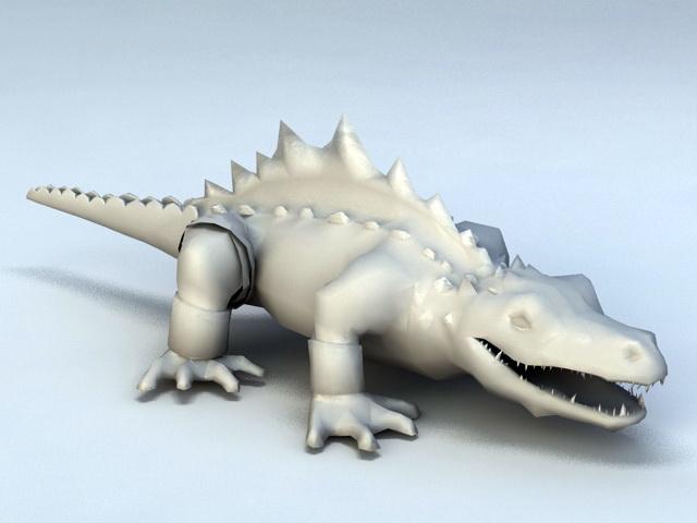 American Alligator 3d model rendered image