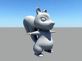Fat Squirrel Cartoon 3d model
