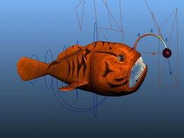 Red Angler Fish Rig 3d model