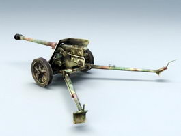 German Anti-Tank Gun 3d model